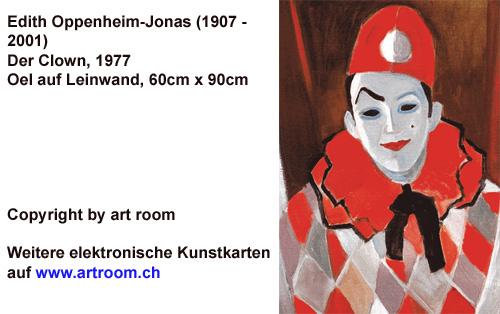 """""""Clown"""", Aquarell, 1977"""