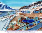 """Winterlandschaft bei Madulain (Engadin)"", Aquarell, 2001"