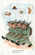 """""""Die Gedanken sind frei"""" - Postkarte für die Schweizer Armee von Edith Oppenheim-Jonas"""