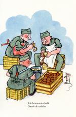 """""""Küchenmannschaft"""", Postkarte für die Schweizer Armee von Edith Oppenheim-Jonas"""