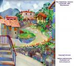 """""""Tessiner Landschaft"""", Aquarell, 1994"""