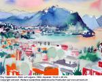 """Blick auf Lugano"", Aquarell, 1984"