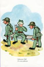"""""""Schwerer Fall"""" - Postkarte für die Schweizer Armee von Edith Oppenheim-Jonas"""