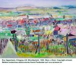 """Klingnau, Rebhang"", Aquarell, 1999"