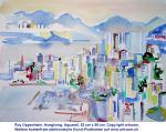 """Hongkong"", Aquarell, 1988"