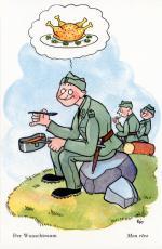 """""""Der Wunschtraum"""", Postkarte für die Schweizer Armee von Edith Oppenheim-Jonas"""